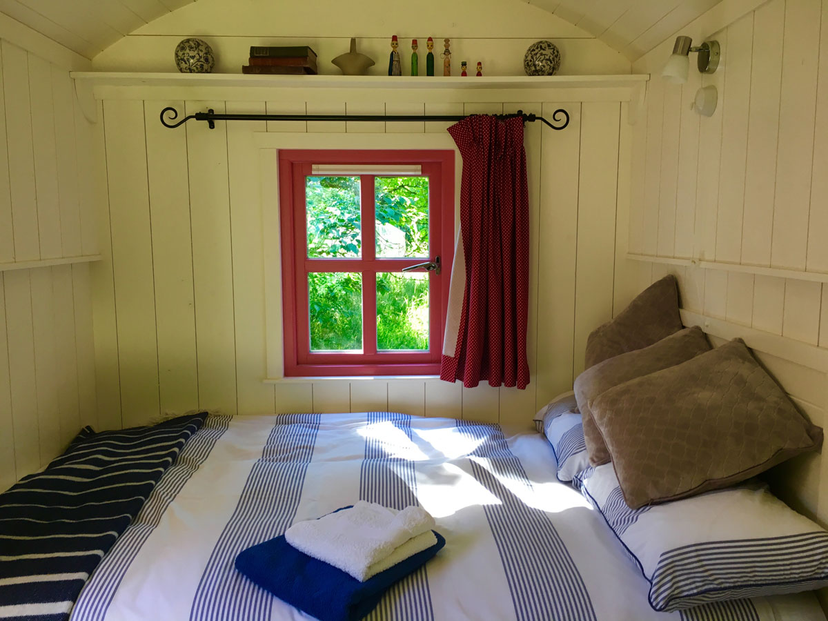 shepherds hut blackstairs eco trails inside