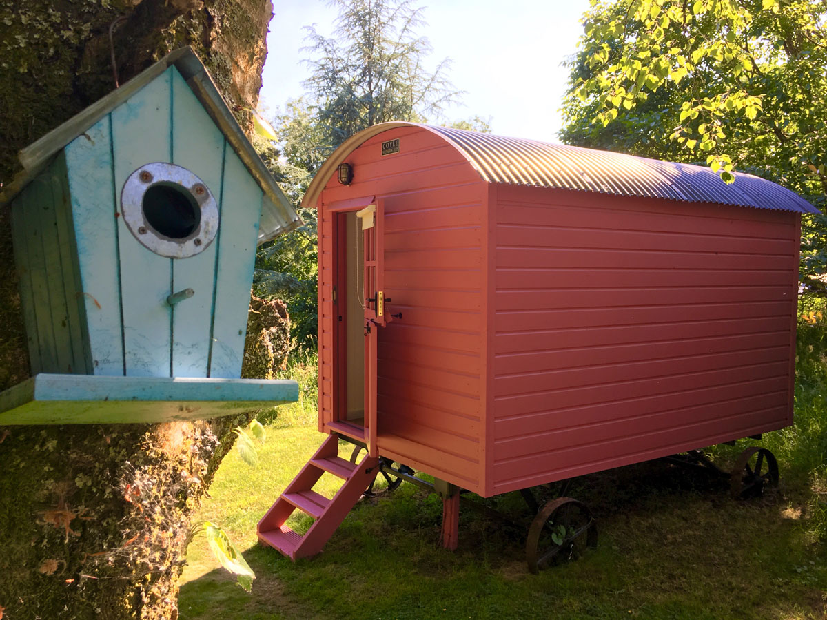 shepherds hut blackstairs eco trails accommodation carlow