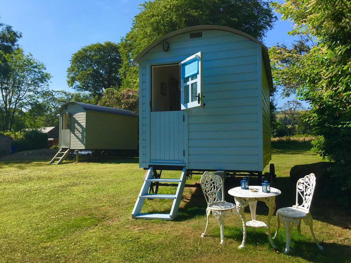 shepherds hut blackstairs eco trails outside